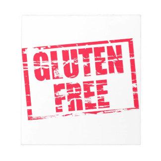 El gluten libera blocs de notas