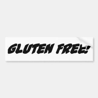 El gluten libera pegatina para auto