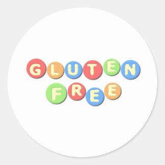 El gluten libera celiaco pegatinas redondas