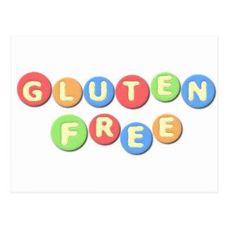 El gluten libera celiaco tarjeta postal