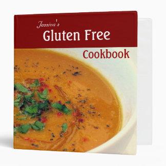 """El gluten libera el libro de cocina carpeta 1 1/2"""""""