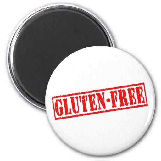 El gluten libera el sello imán redondo 5 cm