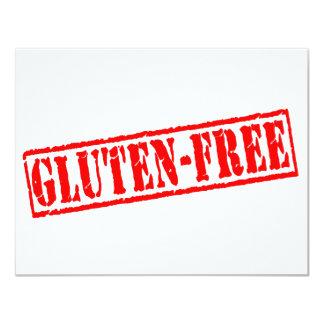 """El gluten libera el sello invitación 4.25"""" x 5.5"""""""