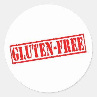 El gluten libera el sello pegatina redonda