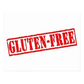 El gluten libera el sello tarjetas postales
