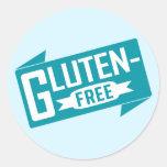 El gluten libera etiqueta redonda