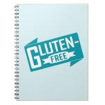 El gluten libera libros de apuntes con espiral