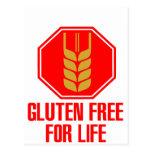El gluten libera para la vida postal