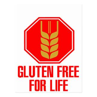 El gluten libera para la vida tarjetas postales
