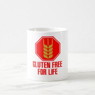 El gluten libera para la vida taza de café