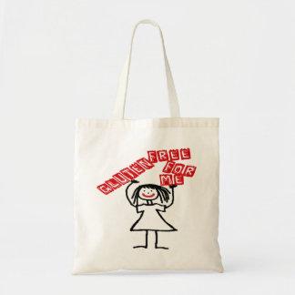 El gluten libera para mí el dibujo animado bolsa tela barata