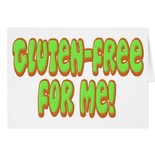 El gluten libera para mí felicitación