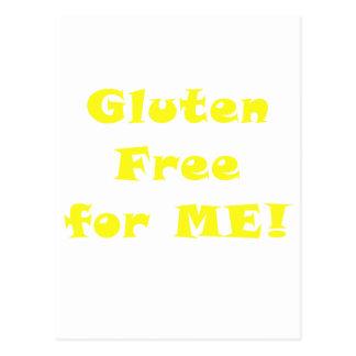El gluten libera para mí postal