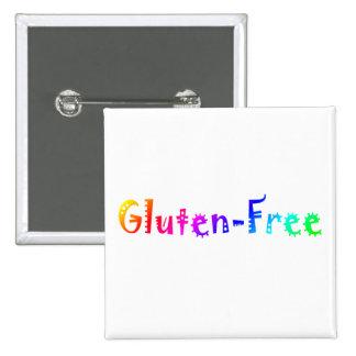 El gluten libera pin cuadrado