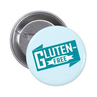 El gluten libera pin redondo de 2 pulgadas