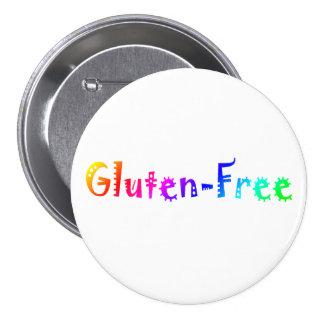 El gluten libera pin redondo de 3 pulgadas
