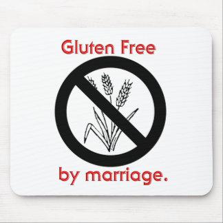 El gluten libera por boda mouse pad