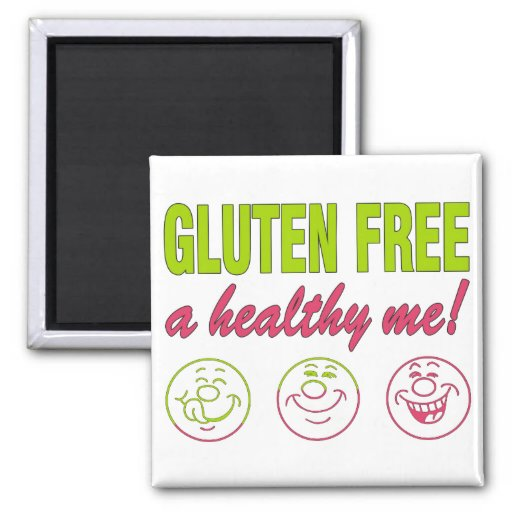 ¡El gluten libera un sano yo! Alergia del gluten c Imán De Nevera