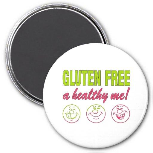 ¡El gluten libera un sano yo! Alergia del gluten c Iman De Nevera