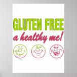 ¡El gluten libera un sano yo! Alergia del gluten c Impresiones