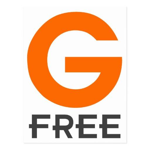 El gluten libre de G libera Tarjeta Postal