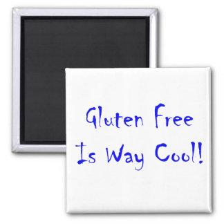 ¡El gluten libre es manera fresca! Imán Cuadrado