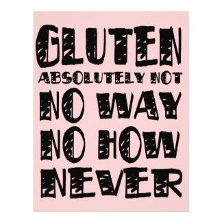 El gluten no libera ninguna manera ninguna cómo nu tarjeton