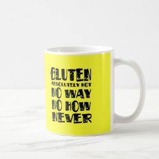 El gluten no libera ninguna manera ninguna cómo nu tazas de café