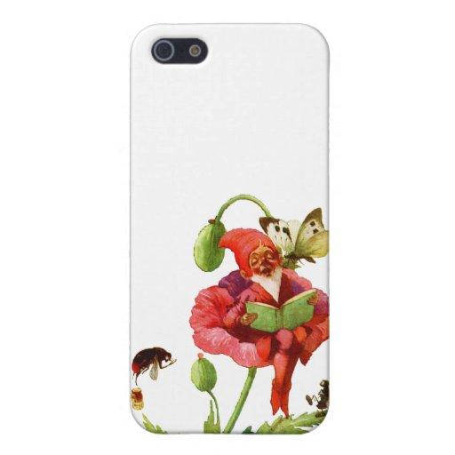 El gnomo de la amapola iPhone 5 protectores