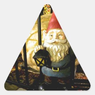 El gnomo y el gigante calcomania trianguladas personalizadas