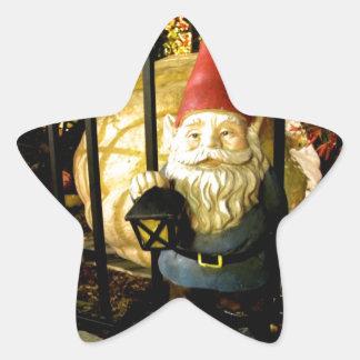 El gnomo y el gigante pegatinas forma de estrella personalizadas