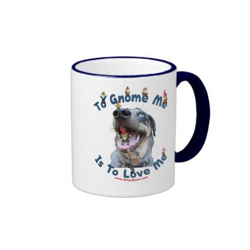 El gnomo yo me ama perro tazas de café