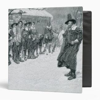 "El gobernador del puritano carpeta 1 1/2"""