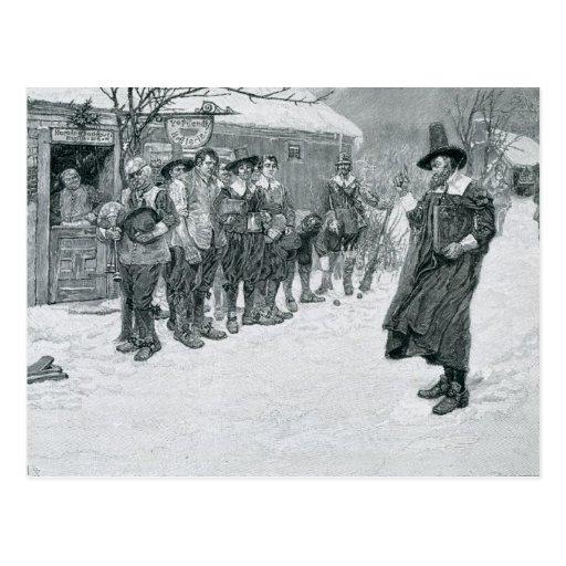 El gobernador del puritano postales