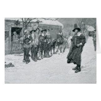 El gobernador del puritano tarjeta de felicitación