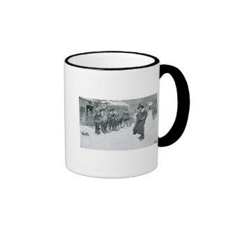 El gobernador del puritano taza de dos colores