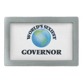 El gobernador más atractivo del mundo hebillas de cinturon rectangulares