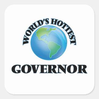 El gobernador más caliente del mundo pegatina cuadrada