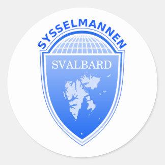 el gobernador Svalbard, Noruega Pegatina Redonda