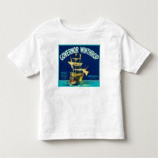 El gobernador Winthrop Apple etiqueta (azul) - T-shirt