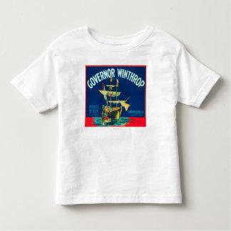 El gobernador Winthrop Apple etiqueta (rojo) - T Shirt