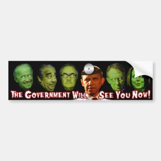 ¡El gobierno ahora le considerará!  El Dr. Obama Pegatina Para Auto