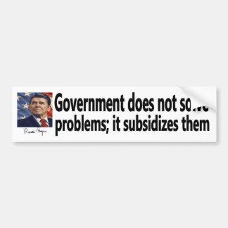 El gobierno de la cita de Reagan subvenciona probl Pegatina Para Auto