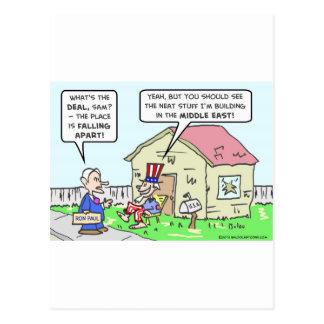 El gobierno descuida América, estructuras en Orien Tarjeta Postal