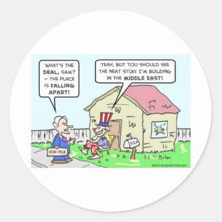 El gobierno descuida América, estructuras en Etiqueta Redonda
