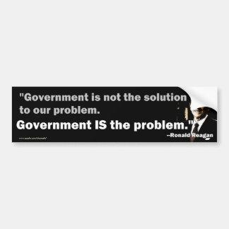 El gobierno es el problema etiqueta de parachoque