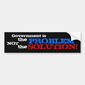 ¡El gobierno es el problema no la solución! Pegatina Para Auto