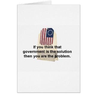 El gobierno es el problema, no la solución tarjetas