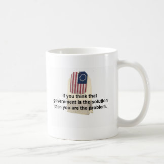 El gobierno es el problema, no la solución taza de café