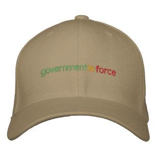 El gobierno es gorra bordado fuerza gorras bordadas